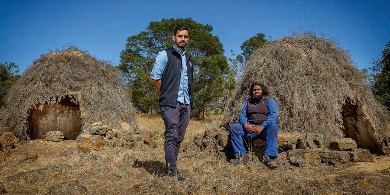 Tyson Lovett Murray Braydon Saunders Reconstructed Gunditjmara Stone Huts
