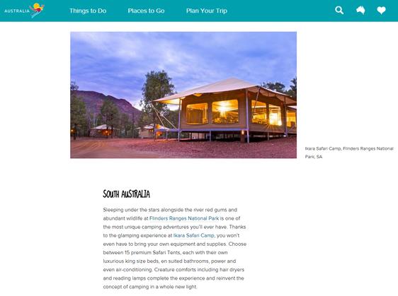 Tourism Australia Best Glamping Adventures Feature 2015 08 07