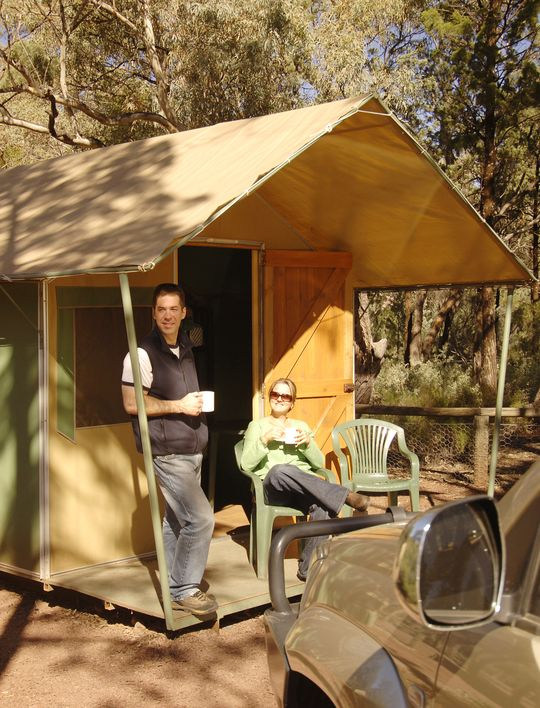 PERMANENT TENTS & Campground at the Flinders Ranges SA - Wilpena Pound