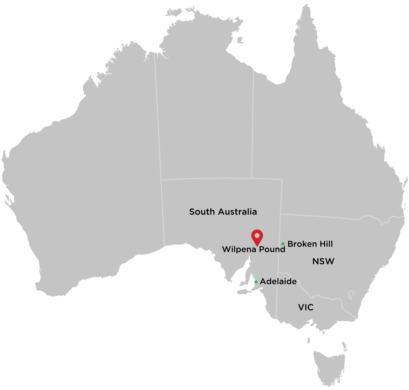 Wilpena Pound Location Map 2016 2