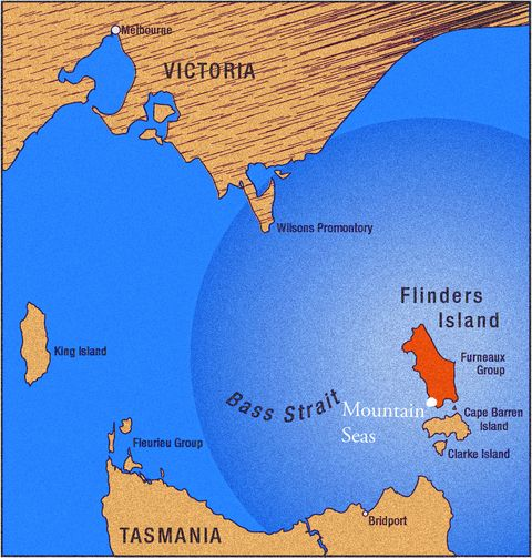 Map Of Australia King Island.David And Lila Sophia Tresemer Mountain Seas Flinders Island Tasmania