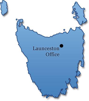 Map of Launceston