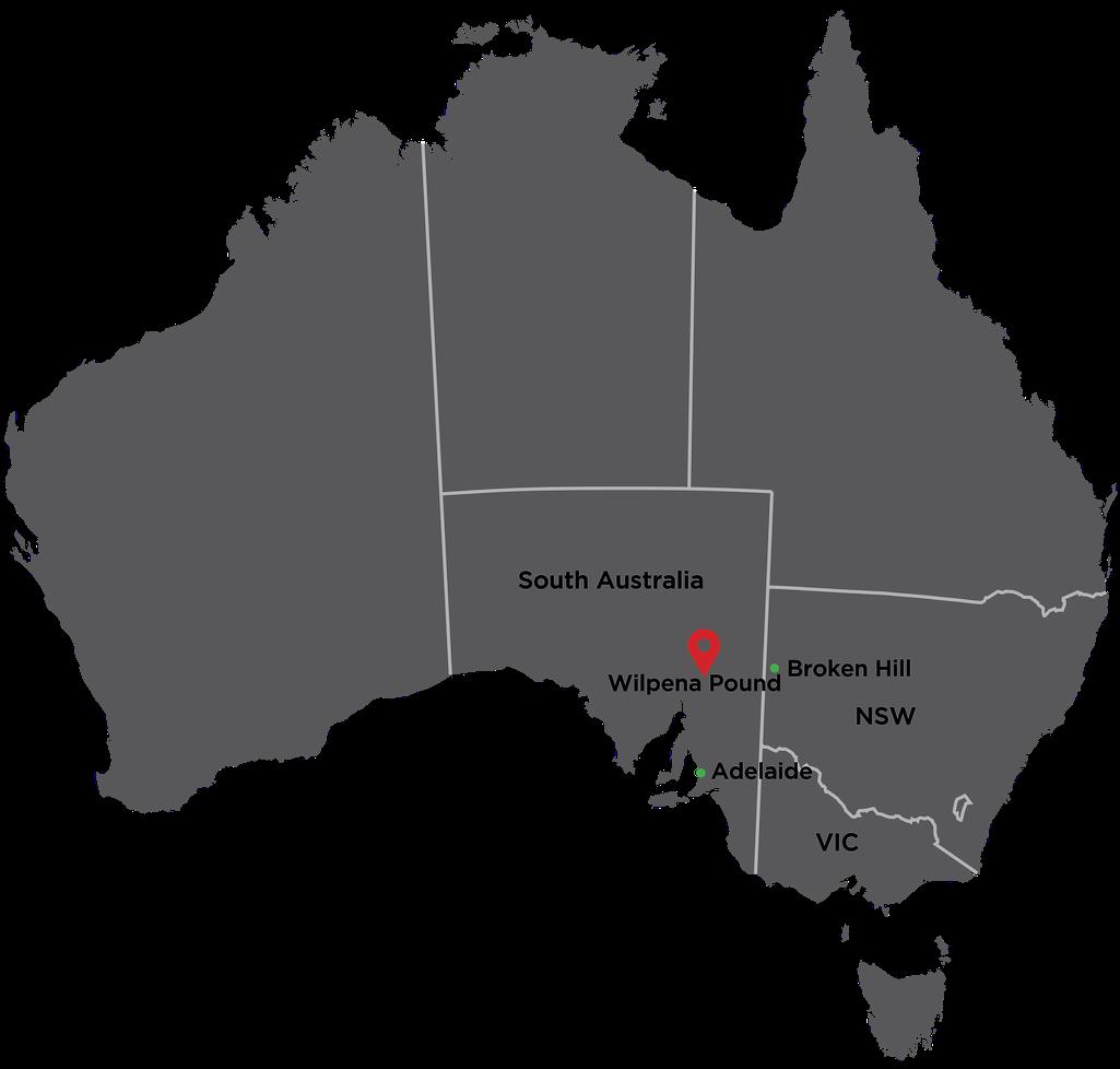 Wilpena Pound Location Map 2016 2