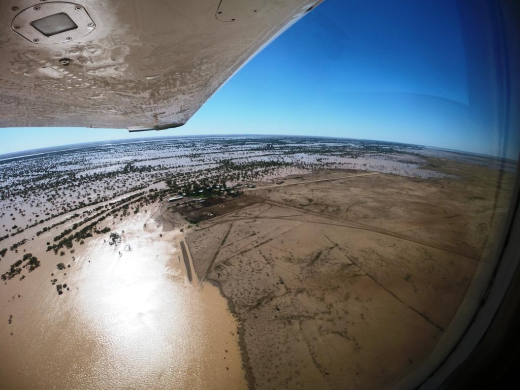 Maz Salvati: Flood water Biamantina Lakes, north of Birdsville, March 2018