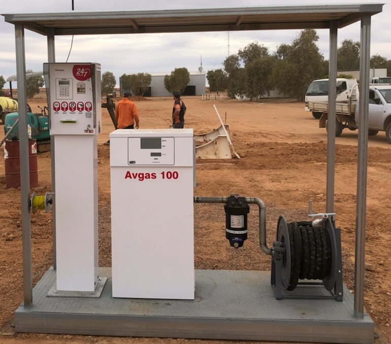 New refuelling system at William Creek introduced in October 2018.