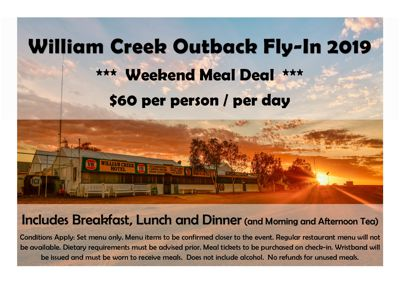 William Creek Fly In 2019 Food